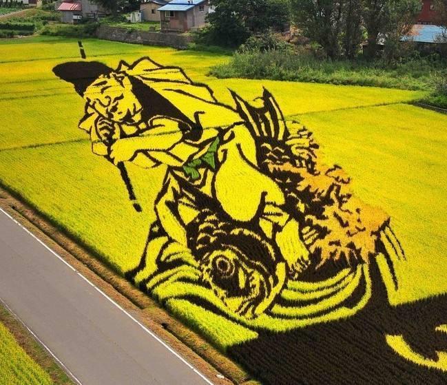 稻田彩色画